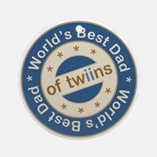 World's Best Dad of Twin Boys Ornament (Round)