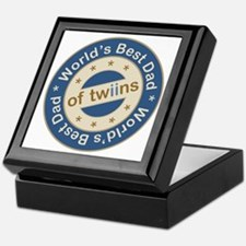 World's Best Dad of Twin Boys Keepsake Box