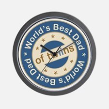 World's Best Dad of Twin Boys Wall Clock