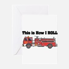 How I Roll (Fire Engine/Truck Greeting Cards (Pk o