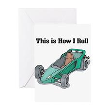 How I Roll (Go Kart/Cart) Greeting Card