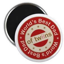 World's Best Dad of Twin Girls Magnet