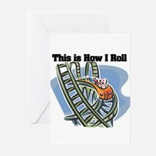 How I Roll (Roller Coaster) Greeting Cards (Pk of