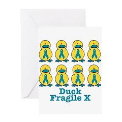 Fragile X Awareness Ribbon Du Greeting Card
