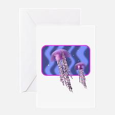 Purple Jellyfish Design Greeting Card