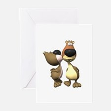 Silly Kissing Bears Greeting Cards (Pk of 20)