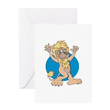 Dancing Lion Greeting Card