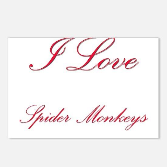 I Love Spider Monkeys Postcards (Package of 8)