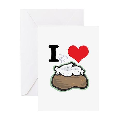 I Heart (Love) Baked Potatoes Greeting Card