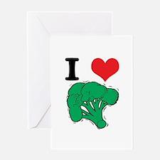 I Love (Heart) Broccoli Greeting Card