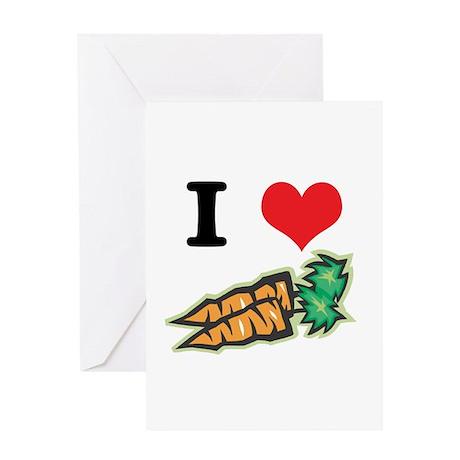 I Heart (Love) Carrots Greeting Card