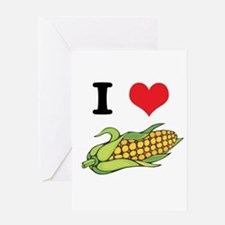 I Heart (Love) Corn (On the C Greeting Card