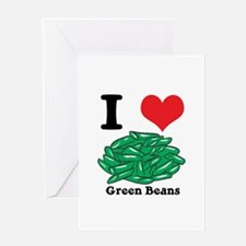 I Heart (Love) Green Beans Greeting Card