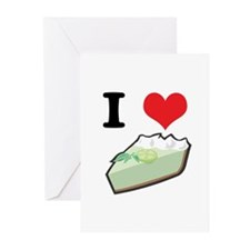 I Heart (Love) Key Lime Pie Greeting Cards (Pk of