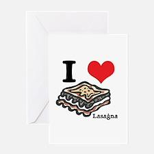 I Heart (Love) Lasagna Greeting Card