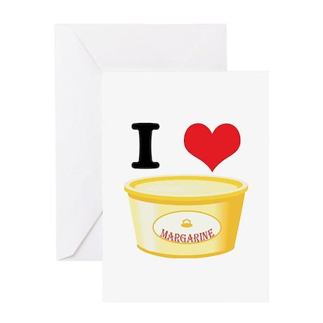 I Heart (Love) Margarine Greeting Card