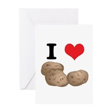 I Heart (Love) Potatoes Greeting Card