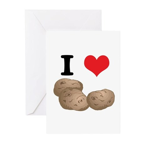 I Heart (Love) Potatoes Greeting Cards (Pk of 20)