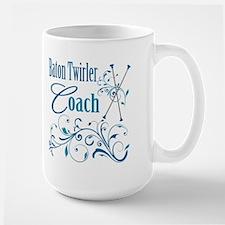 Baton Twirler Coach Large Mug