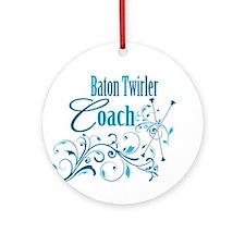 Baton Twirler Coach Ornament (Round)
