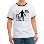 Think Outside Box Ringer Tee Shirt