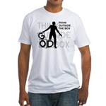 Think Outside Box Fitted Tee Shirt