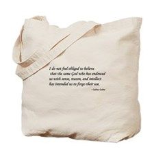 Galileo on God & Reason Tote Bag