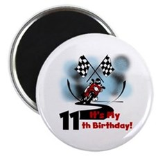Motorcycle Racing 11th Birthday Magnet
