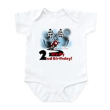 Motorcycle Racing 2nd Birthday Infant Bodysuit
