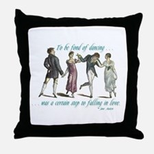 Jane Austen Dancing Quote Throw Pillow