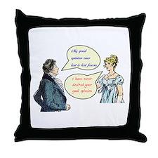 Jane Austen Quote Throw Pillow