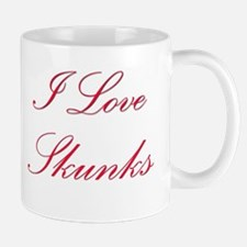 I Love Skunks Mug