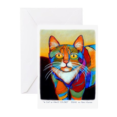 Cat-of-Many-Colors Greeting Cards (Pk of 10)