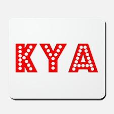 Retro Kya (Red) Mousepad