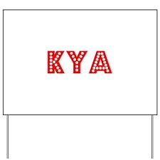 Retro Kya (Red) Yard Sign