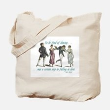 Jane Austen Dancing Janeite Tote Bag
