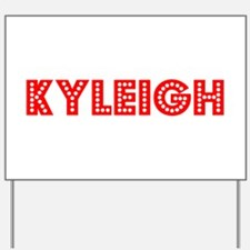 Retro Kyleigh (Red) Yard Sign