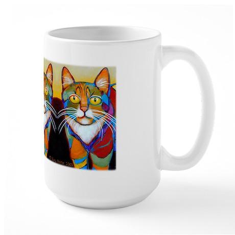 Cat-of-Many-Colors Large Mug