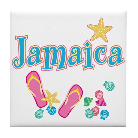 Jamaica Flip Flops - Tile Coaster