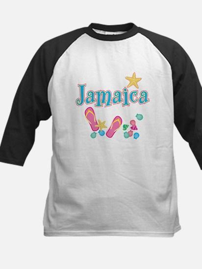 Jamaica Flip Flops - Kids Baseball Jersey