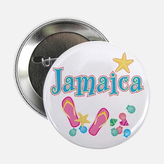 "Jamaica Flip Flops - 2.25"" Button"