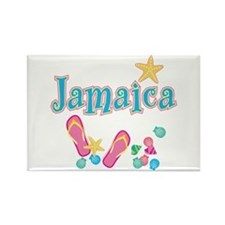 Jamaica Flip Flops - Rectangle Magnet