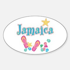 Jamaica Flip Flops - Oval Decal