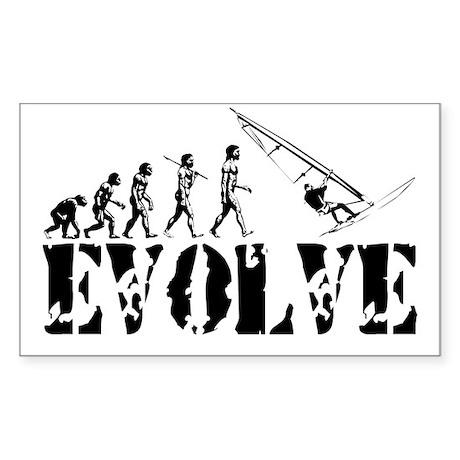 Windsurfing Evolution Rectangle Sticker