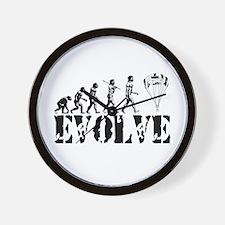 Skydiving Evolution Wall Clock