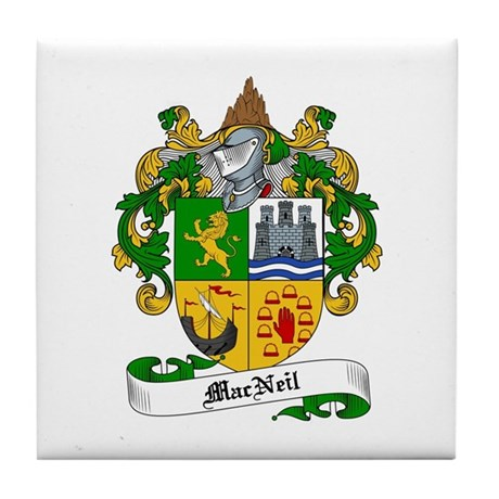 MacNeil Family Crest Tile Coaster