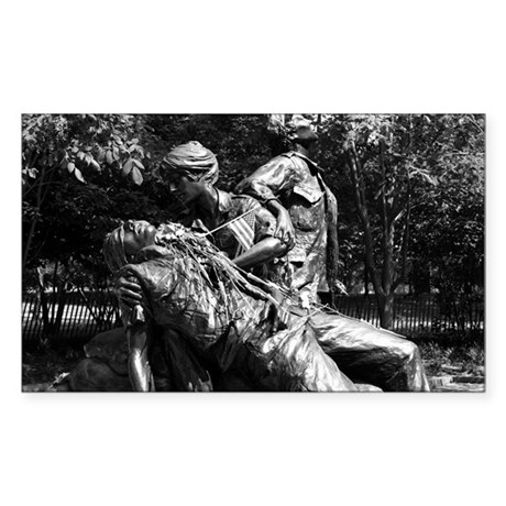 Vietnam Womens Memorial Rectangle Sticker