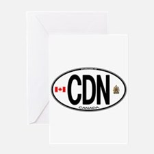 Canada Country Code Oval Greeting Card