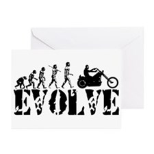 Motorcycle Rider Greeting Cards (Pk of 20)