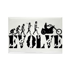 Motorcycle Rider Rectangle Magnet